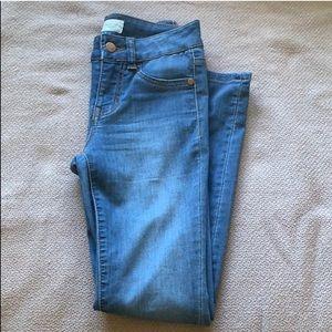Blue asphalt jean legging in size XS
